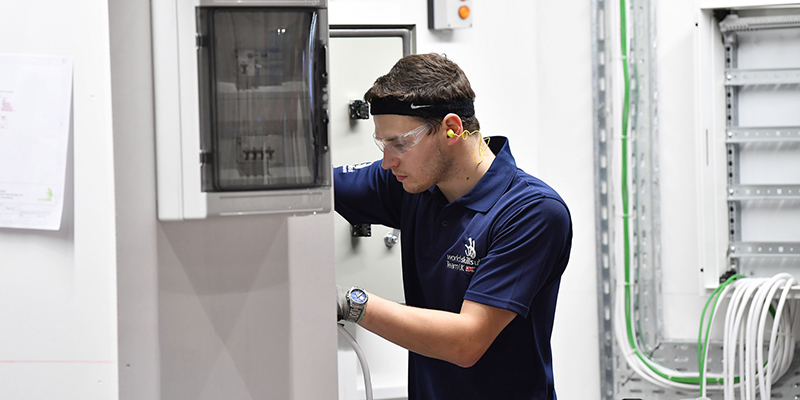 Matt Doe, WorldSkills UK competitor for Abu Dhabi 2017